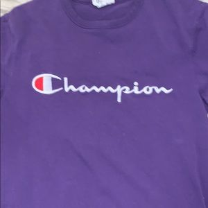 Purple champion shirt